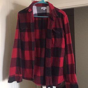 Plaid red shirt
